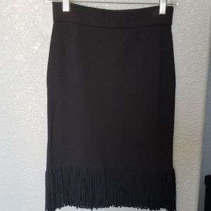 Black fringe skirt